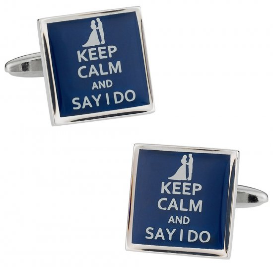 Keep Calm Say I Do Cufflinks