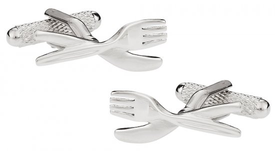 Foodie Gift Idea - Knife and Fork Cufflinks
