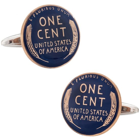 Lincoln Head Cent Painted Penny Cufflinks