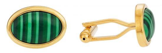 Malachite Gold Cufflinks
