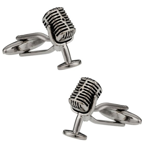 Microphone Cufflinks - Singer Gift