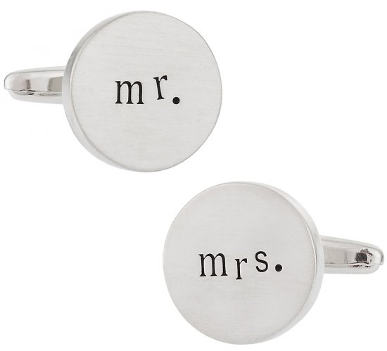 Mr. and Mrs. Wedding Cufflinks