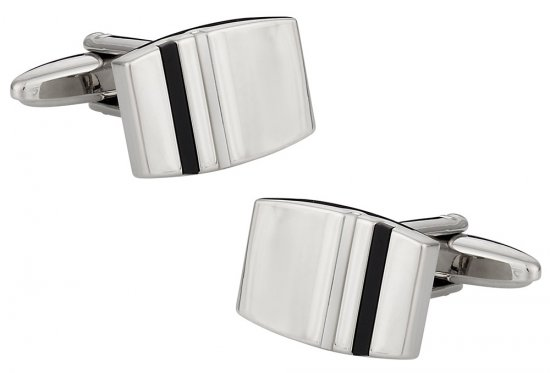Onyx and Mother of Pearl Tab Cufflinks