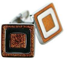 Orange Enamel Cufflinks