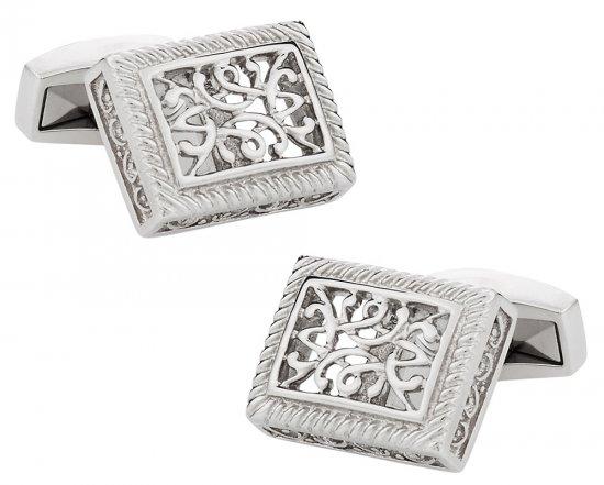 Ornate Stainless Steel Cufflinks