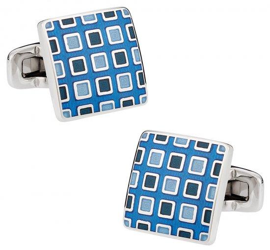Pixelated Blue Cufflinks
