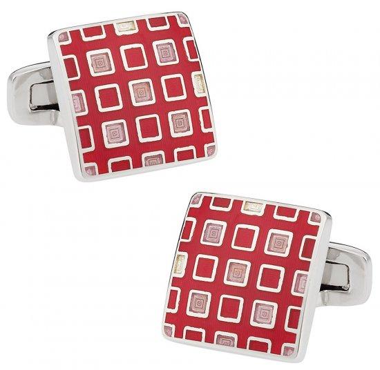 Pixelated Pink & Red Cufflinks