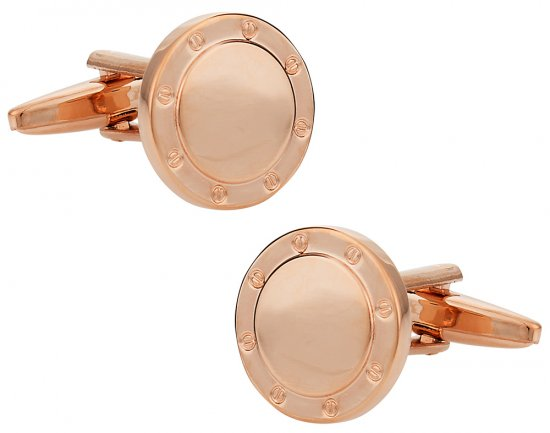 Port Hole Rose Gold Cufflinks