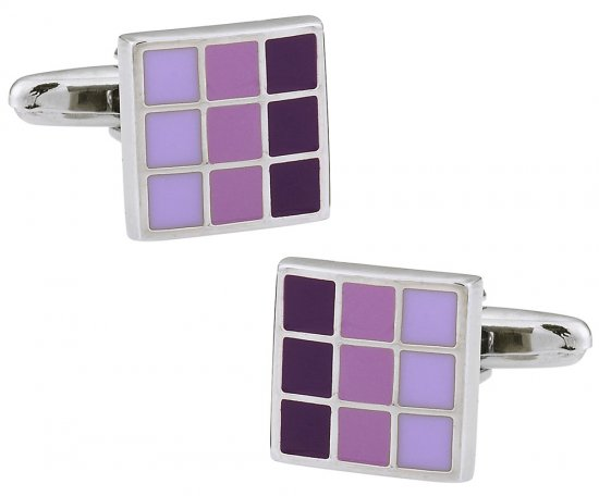 Purple Multi Square Cufflinks