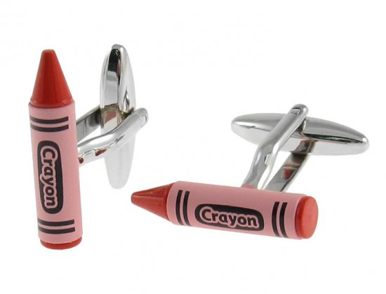 Red Crayon Cufflinks