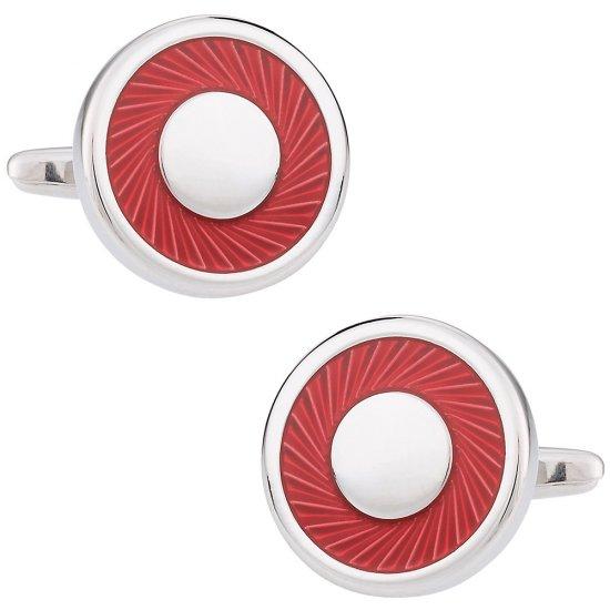 Red Swirl Cufflinks