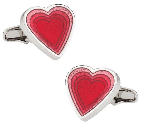 Valentine Red Heart Cufflinks