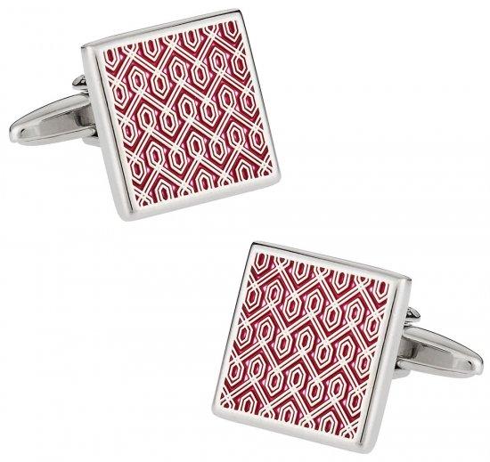 Red Tapestry Cufflinks