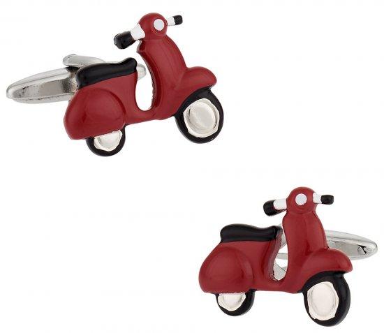Red Vespa Scooter Cufflinks
