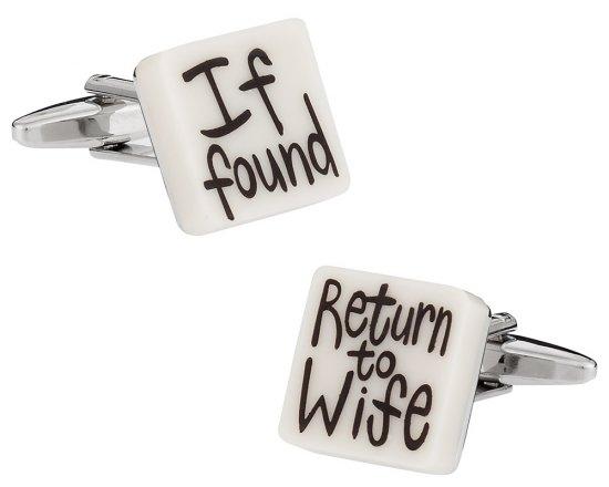 Return to Wife Wedding Cufflinks