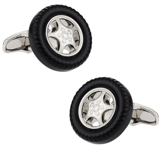 Rim and Tire Cufflinks