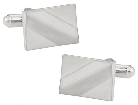 Satin Silver Cufflinks