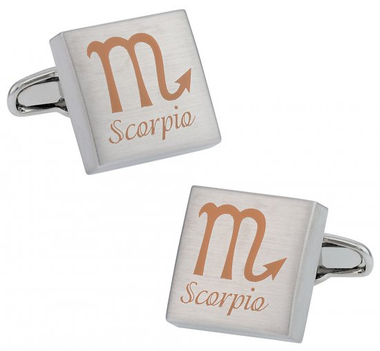 Scorpio Zodiac Sign Cufflinks