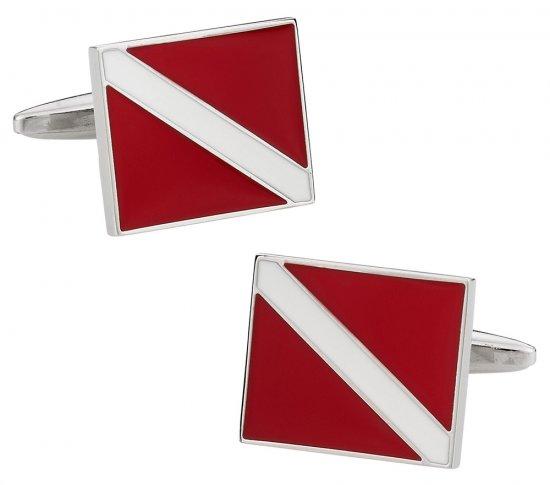 Scuba Diver Flag Cufflinks