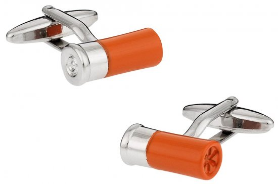 Shotgun Shell Cufflinks Orange