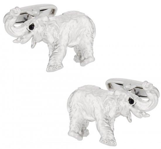 Silver Elephant Cufflinks