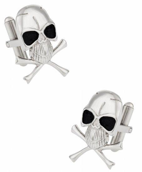 Skull Crossbones Cufflinks for Men