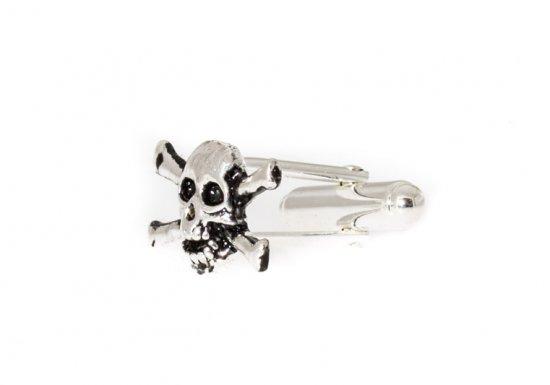Sterling Skull and Crossbone Cufflinks