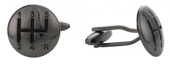 Stick Shift Cufflinks in Gun Metal