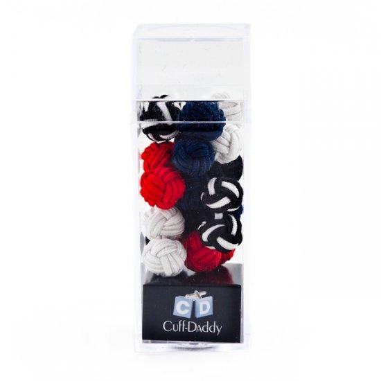 STOCKING STUFFER--Silk Knot Cufflink Set - 5 pairs