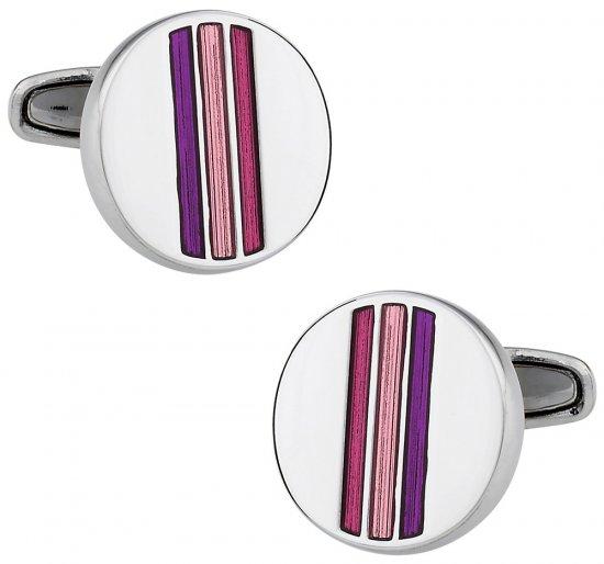 Striped Pink Cufflinks
