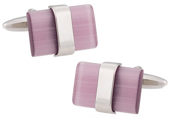 Suspended Purple Cufflinks
