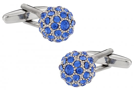 Swarovski Sapphire Blue Ball Cufflinks