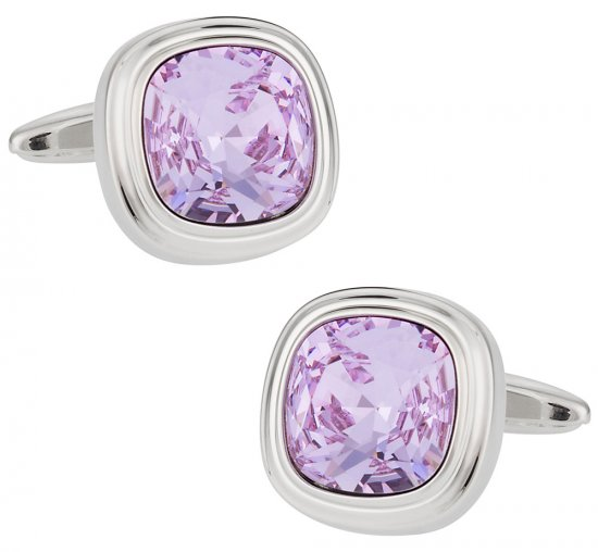 Swarovski Violet Crystal Cufflinks