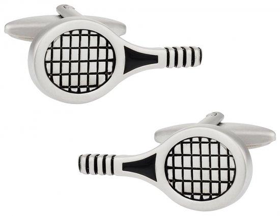 Tennis Racquet Cuff Links