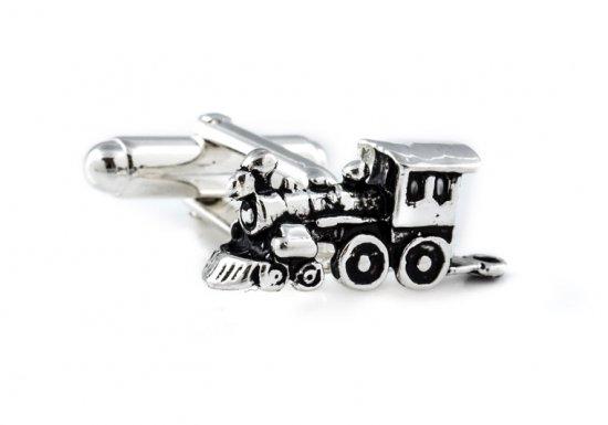 Train Cufflinks in Sterling Silver