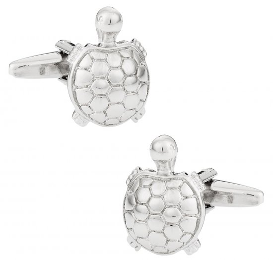 Silver Turtle Cufflinks