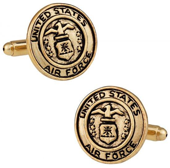 US Air Force Cufflinks Gold USAF