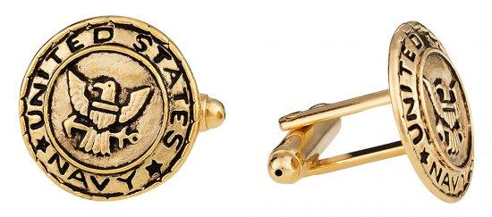 US Navy Cufflinks Gold