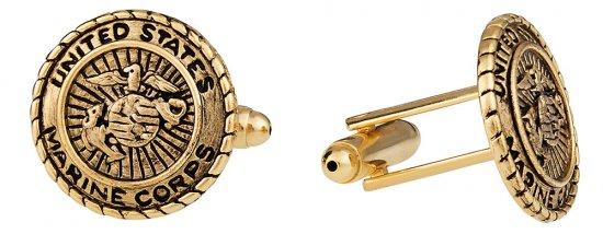 USMC Marine Corp Cufflinks Gold