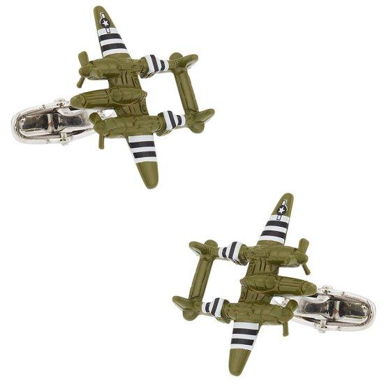 War Plane Bomber Cufflinks
