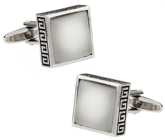 White Fiber Optic Cufflinks