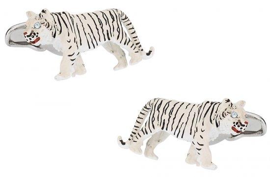 White Tiger Cufflinks