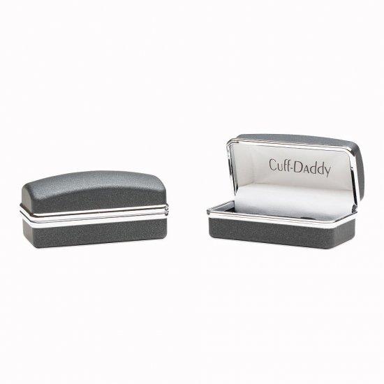 Wrap Around Cufflinks - Rhodium Silver