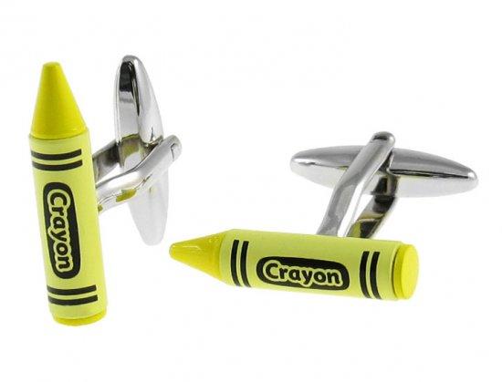 Yellow Crayon Cufflinks